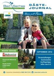 Gästejournal September 2012 (PDF) - Samtgemeinde Walkenried