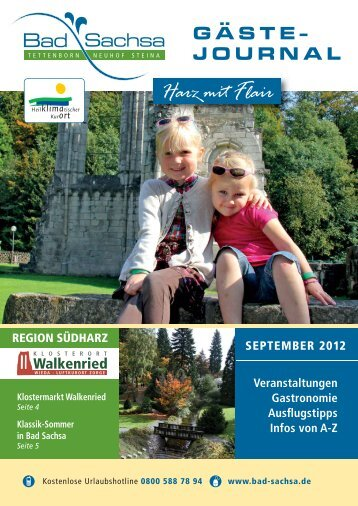 Gästejournal September 2012 (PDF) - Samtgemeinde Walkenried