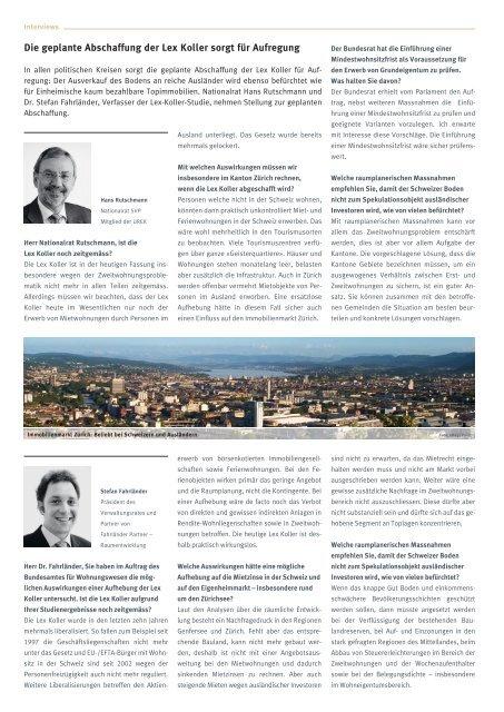 Immobilien-Investor - Lienhardt & Partner - Privatbank Zürich