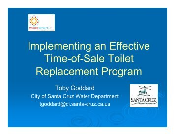 City of Santa Cruz Toilet Replacement Program - Green Cities ...