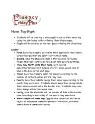 Name Tag Glyph - Fluency Friday Plus