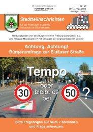 Stadtteilnachrichten Heft 47 - Bürgerverein Freiburg Mooswald eV