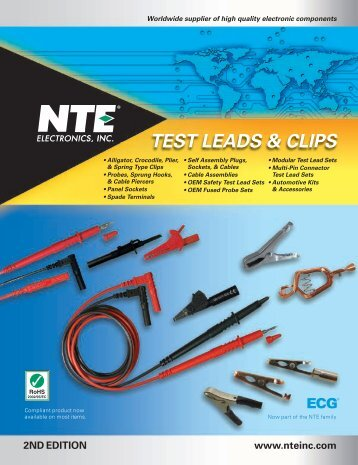 Test Leads & Clips 2010 Catalog (PDF) - NTE Electronics