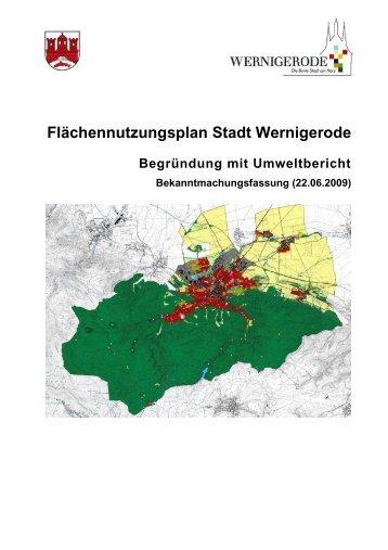 Inhaltsverzeichnis Flächennutzungsplan - Stadt Wernigerode
