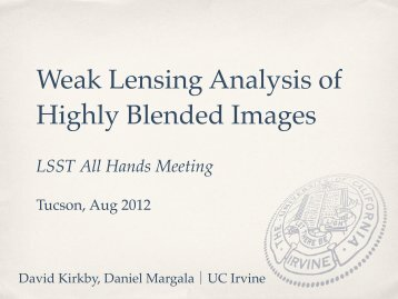 Weak Lensing Analysis of Highly Blended Images