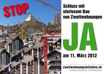 und Siedlungsdruck in der Schweiz verlangt eine grössere Disziplin ...