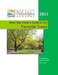 Arbor Day Guide to GPG Trees - Greater Philadelphia Gardens