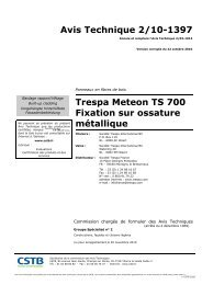 Avis Technique 2/10-1397 Trespa Meteon TS 700 ... - Trespa.info