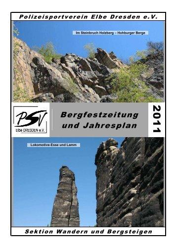 Jahresplan 2011 - PSV Elbe Dresden eV -Sektion Wandern und ...
