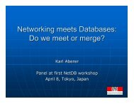 Networking meets Databases - Distributed Information Systems ...