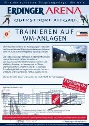 TRAINIEREN AUF WM-ANLAGEN - Erdinger-arena.net
