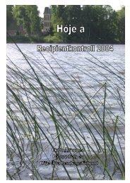 Årsrapport för 2004 - Höje å vattenråd