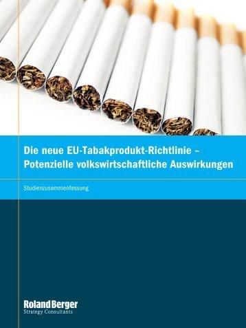 Die neue EU-Tabakprodukt-Richtlinie – Potenzielle ... - Roland Berger