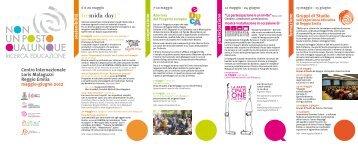 Clicca qui per scaricare il calendario - Reggio Children