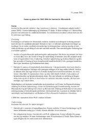 31. januar 2002 Status og planer for 2002-2006 for Institut for ...