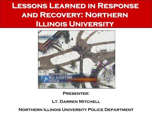Lessons Learned in Response and Recovery: Northern Illinois ...