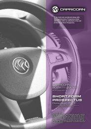 SHORT FORM PROSPECTUS - Shareholder Centre - Home Page