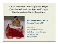 An Introduction to the Ages and Stages Questionnaires - UCSF Fresno