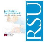 Study Dentistry at Rīga Stradiņš University