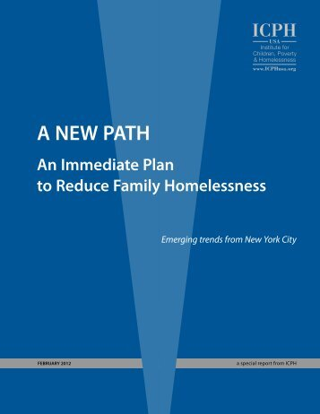 A NEW PATH - The Institute for Children, Poverty, and Homelessness