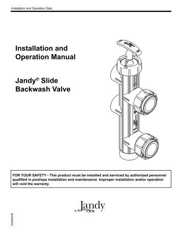 Slide Backwash Valve Manualpdf Pleasure Aquatech Pools