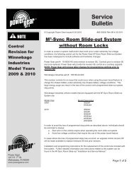 Service Bulletin - Power Gear