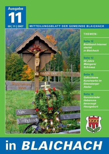 aus dem rathaus - Gemeindeverwaltung Blaichach im Allgäu ...
