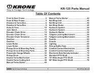 KR-125 Parts Manual Table Of Contents