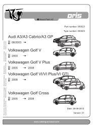 Audi A3/A3 Cabrio/A3 GP Volkswagen Golf V ... - kupp-west