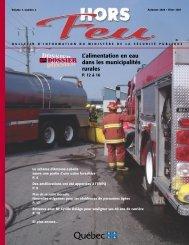 Vol. 7, n° 2 , automne-hiver 2007 - Ministère de la Sécurité publique