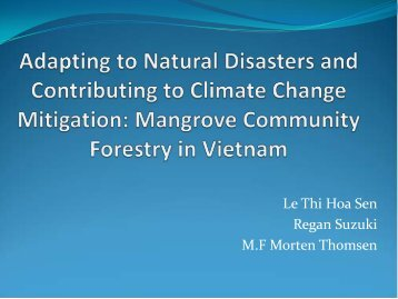 Mangrove Community Forestry in Vietnam - Mangroves for the Future