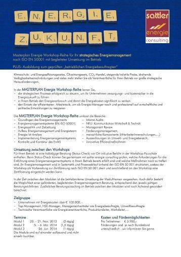 Masterplan Energie Workshop-Reihe für Ihr strategisches ...