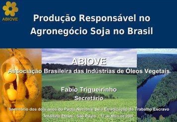 Produção de Soja no Brasil - ABIOVE - Associação Brasileira das ...