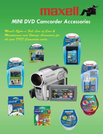 MINI DVD Camcorder Accessories - Maxell Canada