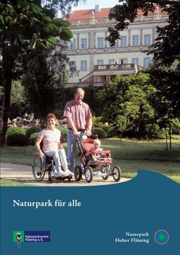 """Broschüre """"Naturpark für alle"""" - Naturpark Hoher Fläming"""