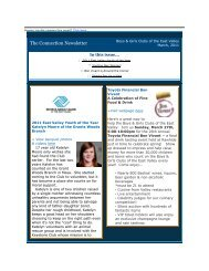 March 2011 Connection E-Newsletter - Boys & Girls Clubs of the ...