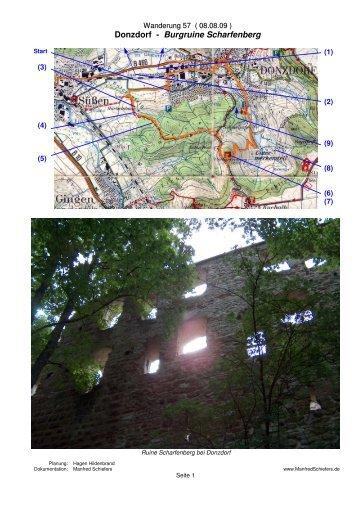 Donzdorf - Burgruine Scharfenberg