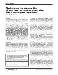 Challenging the dogma: the hidden layer of non-protein-coding ...