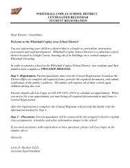 Dear Parents / Guardians: - the Whitehall-Coplay School District!