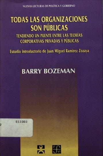 TODAS LAS ORGANIZACIONES SON PUBLICAS