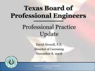 Texas Board of Professional Engineers - SEAoT