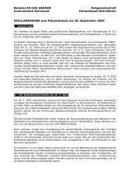 Stellungnahme zum Polizeieinsatz am 20. September 2003