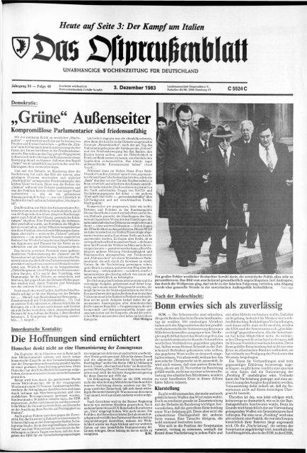 Folge 49 Vom 03 12 1983 Archiv Preussische Allgemeine Zeitung