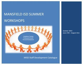 mansfield isd summer workshops - Mansfield Independent School ...