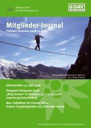 Mitglieder-Journal - Deutscher Alpenverein Sektion Greiz Sitz ...