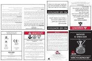 návod k obsluze nebezpečí nebezpečí - Cascade Designs, Inc.