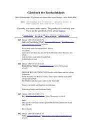 Gästebuch der Emsbachdalmis - Dalmatiner vom Emsbachtal