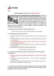 2011 PROVA DA UNIDADE I DE FILOSOFIA – 8º ANO (COMENTADA)