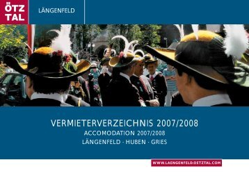 VERMIETERVERZEICHNIS 2007/2008 - Sölden