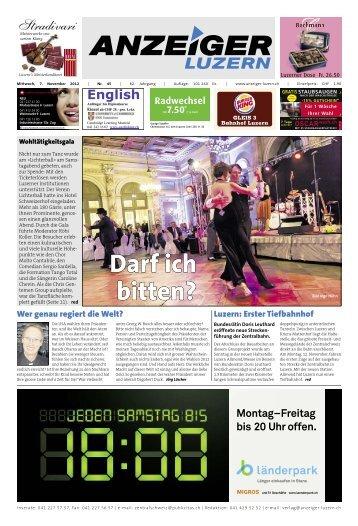 Anzeiger Luzern, Ausgabe 45, 7. November 2012